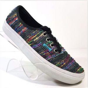 Vans Multi Color Rainbow Textured Stripes Mens 4.5